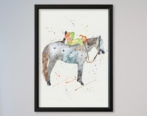 Pippi Longstocking Watercolor Poster illustrations, Art Print, Nursery Art Wall Decor gift express service fast delivery