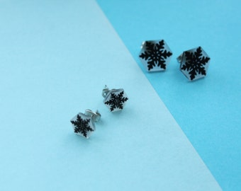 Chips snowflakes / snowflake Earrings