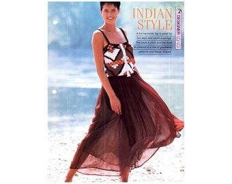 Genuine Vintage Ladies 'Indian Style' Summer Camisole Top Knitting Pattern