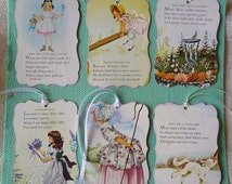 Nursery Rhyme gift tags for girls  What are Little Girls Made Of?  Adorable Large Girls Gift Tags