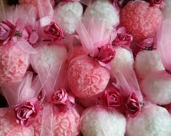 20 Heart soap favor,wedding favor,engagement favors,bridal shower favors,bachelorette favors