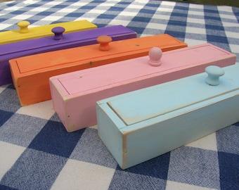 Wood Pencil Box - Painted - Teacher's Gift, Desk Organizer, Kids' Desk, Workshop