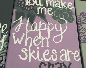 You are my sunshine my only sunshine....canvas set of 4