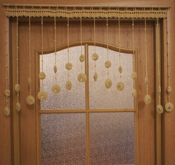 Kitchen Crochet Door Curtain Dumplings Door Curtain With