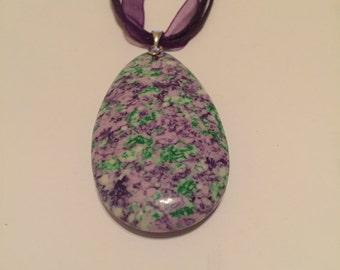 Botswana agate polished and smooth pendant