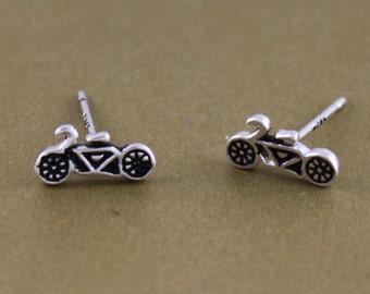 925 sterling silver motorcycle earrings, motorcycle studs, motorcycle jewelry, chrismas gift,handmade, everyday, birthday, bridesmaid-P1065