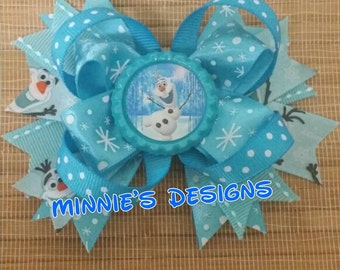 Frozen Hair Bow, Frozen Birthday,  Ready to ship Olaf hair bow, Olaf hair Bow, Frozen Bow, Olaf Bow, Olaf Birthday, Olaf shirt, Olaf dress