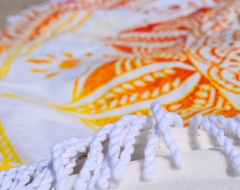 Mandala tapestry round TOWEL, round beach towel, terrycloth round tapestry beach towel, mandala roundie beach towel and tapestry, boho towel