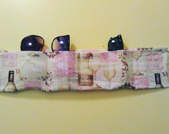 Eye Glass/ Sunglass fabric wall Organizer