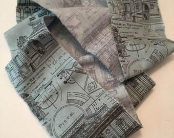 Hand Frayed Ribbon/Fabric Trim/Mixed Media Architecture/Architecture Ribbon/French Inspired Trim/Paris Architecture/Distressed Ribbon