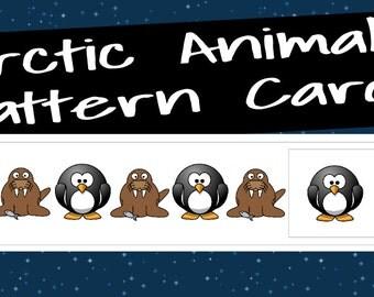 Arctic Animal Pattern Cards