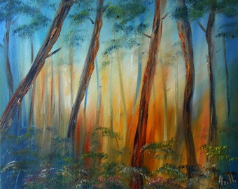 "Painting landscape ""Forest"""