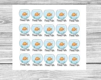 Kawaii Feed Fish Sticker