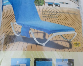 Unavailable listing on etsy for Bahama towel chaise cover