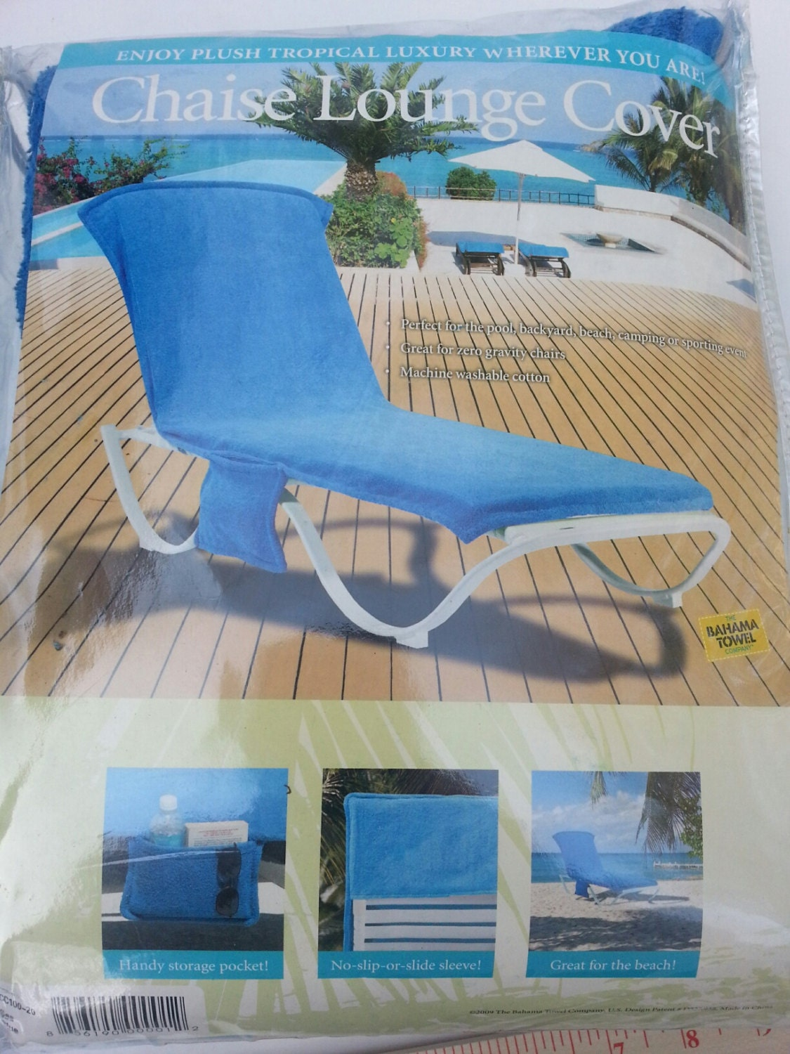 Blue chaise lounge cover made by the bahama towel co for Bahama towel chaise cover