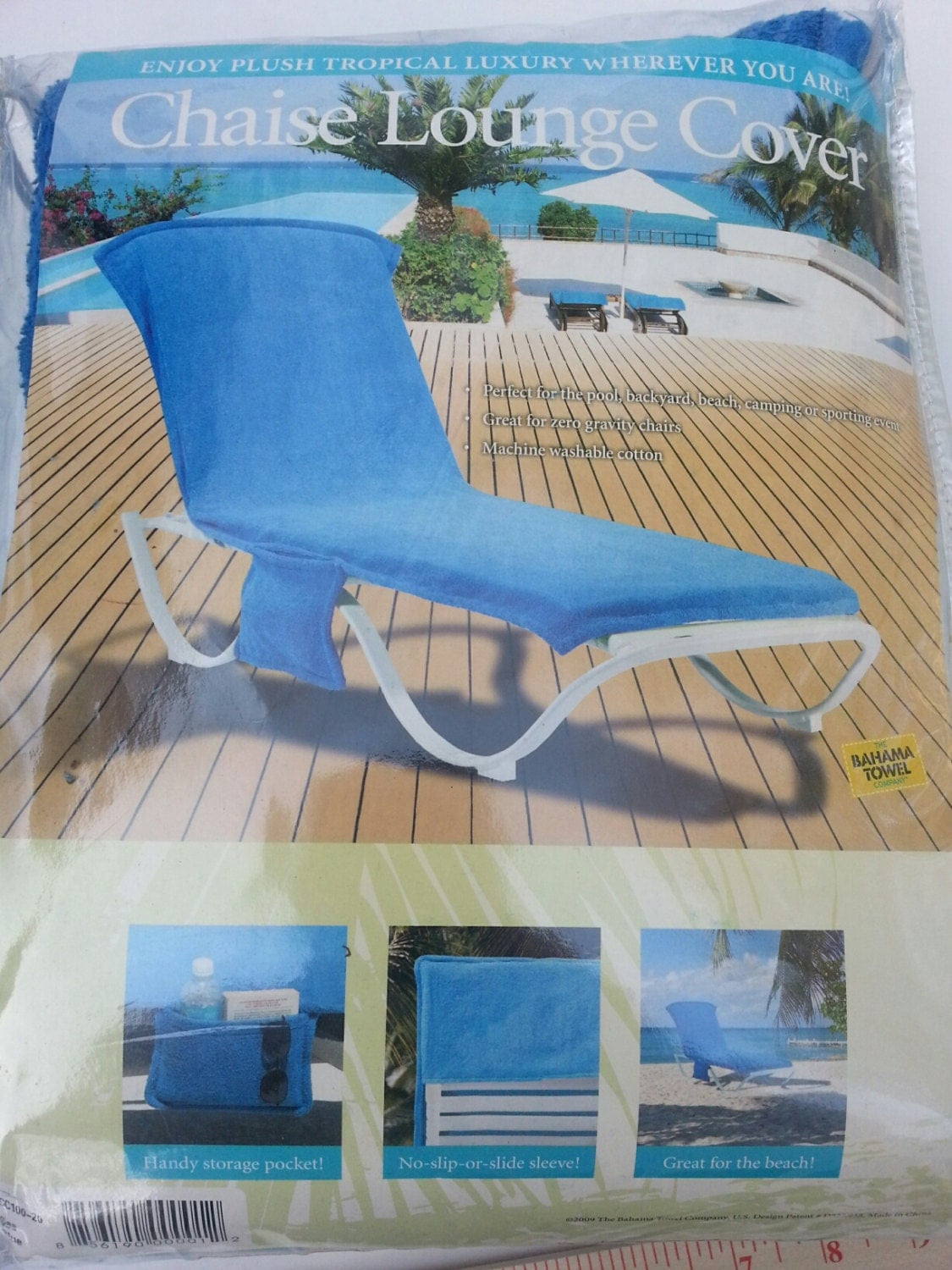 Blue chaise lounge cover made by the bahama towel co for Chaise lounge cover towel
