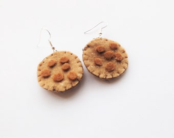Felt Cookie Earrings