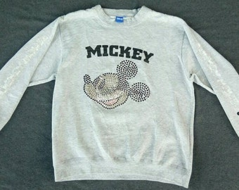 Vtg MICKEY #28 Crewneck Sweater