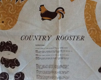Country Rooster fabric
