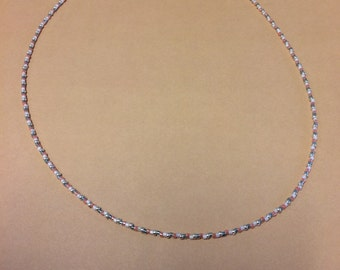 Mint and coral seed bead necklace