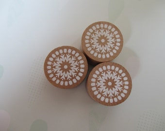 Wooden Flower Stamp