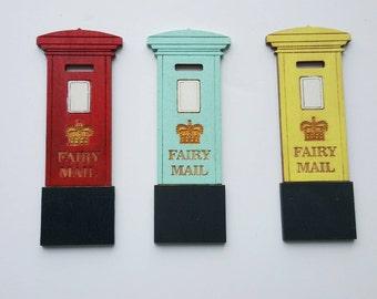 Miniature Post box // mail box - Fairy door extras fairy accessories , tooth fairy , pixie , elf , pretend play