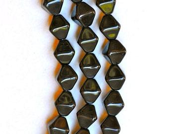 8mm Bi-Pyramid Glass Bead - Czech Glass Beads - Various Colors Matte or Shiny - Qty 50