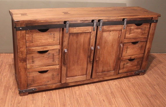 outstanding quality rustic solid wood tv stand entertainment. Black Bedroom Furniture Sets. Home Design Ideas
