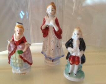 Set of 3 - Vintage Renaissance Figurines Made in Occupied Japan