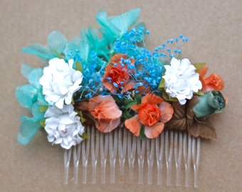 Flower,clip,orange,blue,light,roses,dried,ivory,flowers,white,blue,turquoise,aquamarine