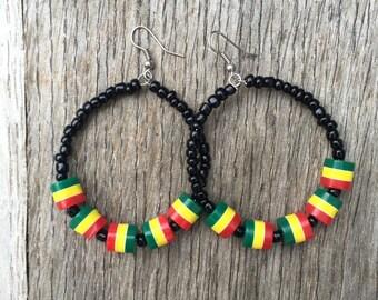 Rastafarian earrings RLW729