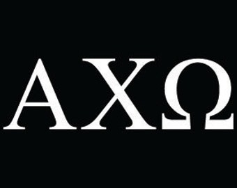 alpha chi omega sorority greek letters decal vinyl window bumper car laptop sticker any size any color free shipping worldwide