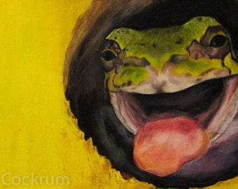 "Print of ""Birdhouse Frog"""