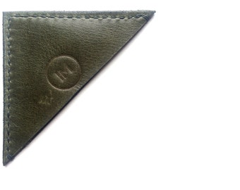 Leather Bookmark - Forest Green