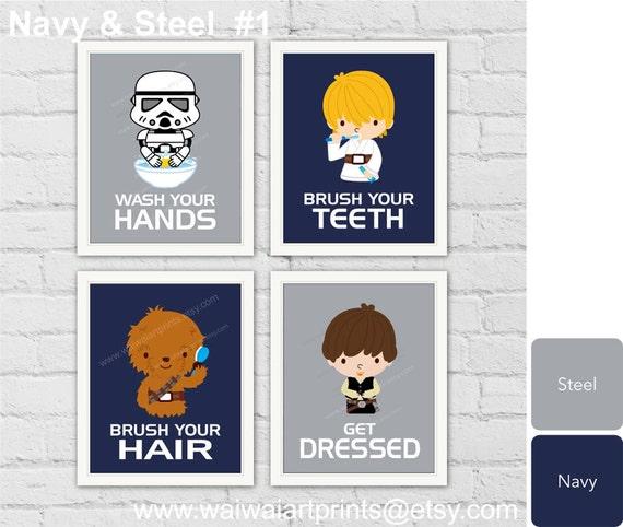 star wars bath nursery decor boys bathroom wall decor boys. Black Bedroom Furniture Sets. Home Design Ideas