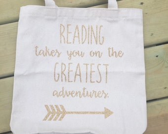 Reading book tote