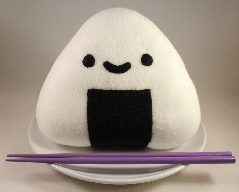 Decorative Plush Pillows : Onigiri Plush Toy Decorative Pillow Food Pillow Rice Ball