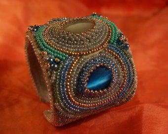 The bead embroidered cuff Esmeralda