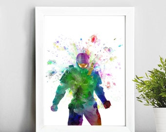 Halo Master Chief , Watercolor Art Print Children's Wall Art Home Decor Wall Hanging