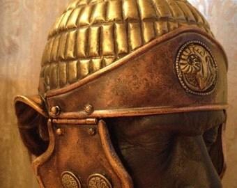 Larp Helmet, Roman Helmet, Movie Props Helmet, Roman Empire, LARP, Props Film Larp Armor Cosplay Helmet Cosplay Props Ansient Replica Helmet