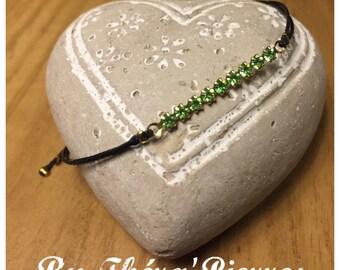 End Peridot bracelet