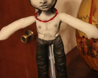 """Custom 17"""" Jim Morrison doll"""