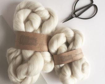 Merino Wool Roving Undyed