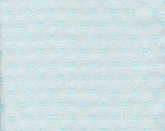 Blue O cotton poly blend fabric