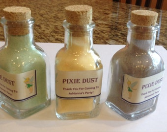 PIXIE DUST party favor set of 6, tinker bell fairy dust