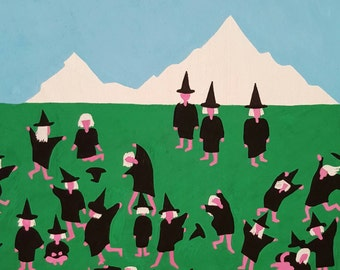 Painting, 'Three Important Witches'