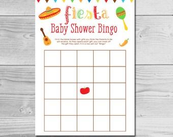 Fiesta Baby Shower Bingo - Co-ed - Parents-to-be - Instant Download Printable - Gender Neutral