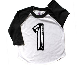 First Birthday Shirt, Number one baseball t, 1st bday tee shirt, first birthday baseball raglan, first birthday outfit, baby's first bday