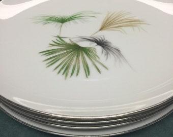 Tropical Plates Vintage. Palm Springs Plate. White Dinner Plate. Palm Tree Plates. Beach Plate. MCM Dinner Plates. Summer Plates.