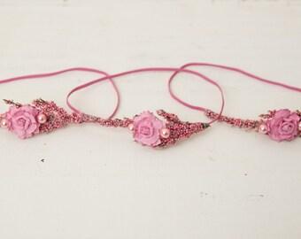 Baby Pink Newborn Headband